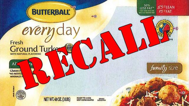 Butterball turkey burgers recall