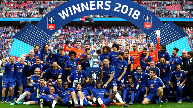 Hazard wins FA Cup for Chelsea with victory over Manchester United