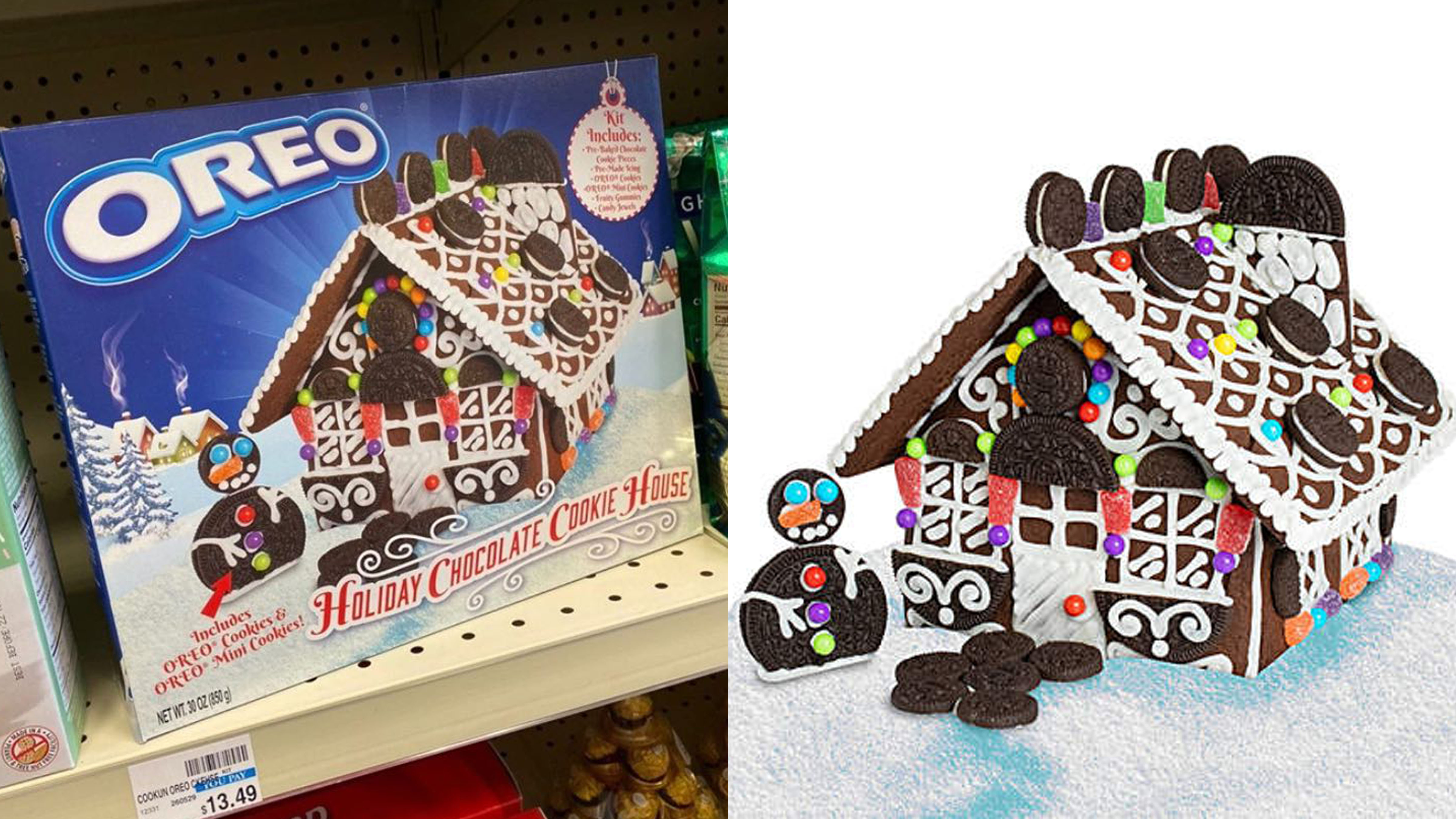 Christmas Gingerbread House Kit.Step Aside Gingerbread Oreo Unveils Its Own Cookie House
